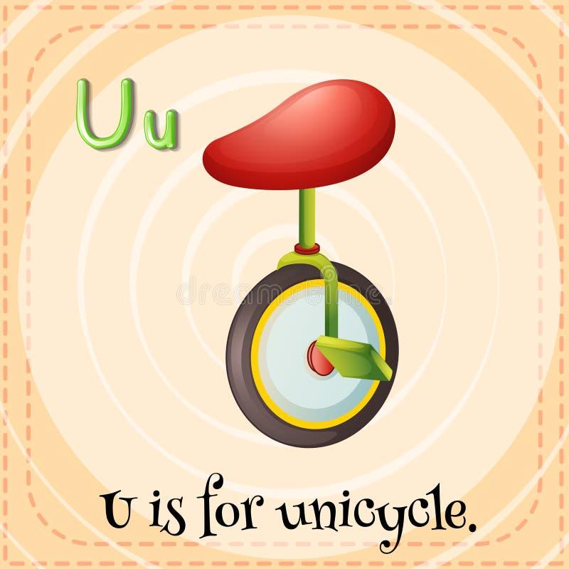 单轮脚踏车 库存例证