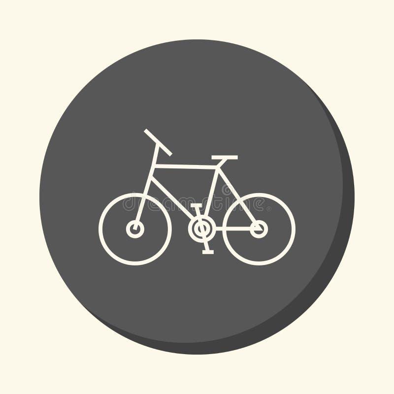 单轮自行车,与容量,简单的颜色变动幻觉的圆的象  库存例证