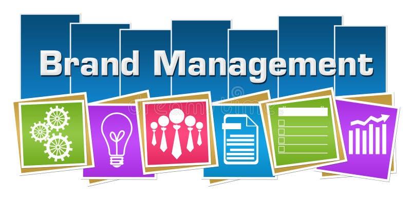 单项产品管理企业标志五颜六色的正方形条纹 向量例证