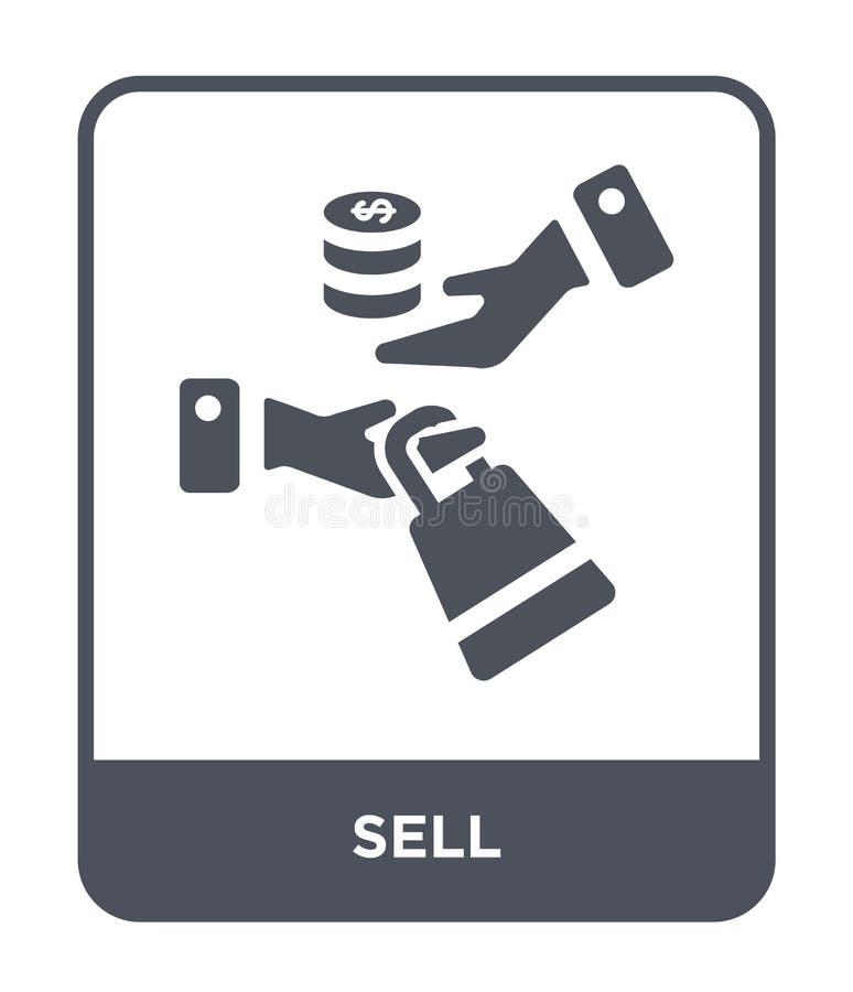 卖在时髦设计样式的象 在白色背景隔绝的出售象 网的出售传染媒介象简单和现代平的标志 库存例证