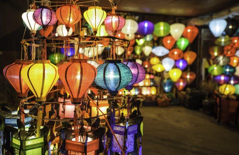 在hoi-an的中国灯笼,越南 免版税库存照片