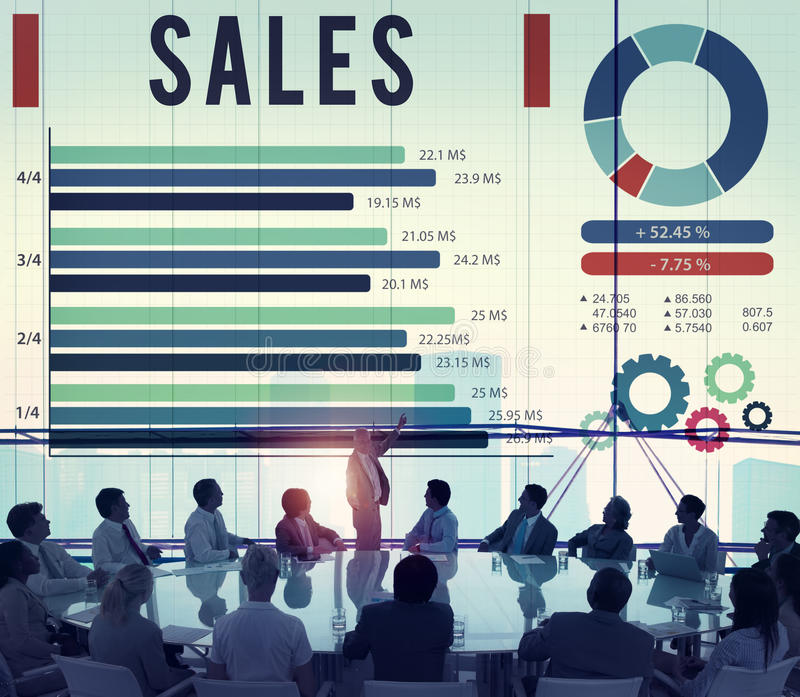 卖概念的销售经济财政付款 免版税库存图片