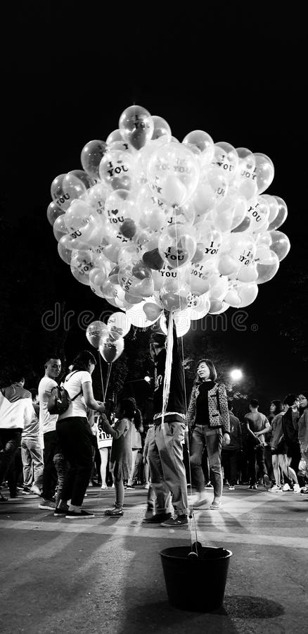 卖气球 免版税库存照片
