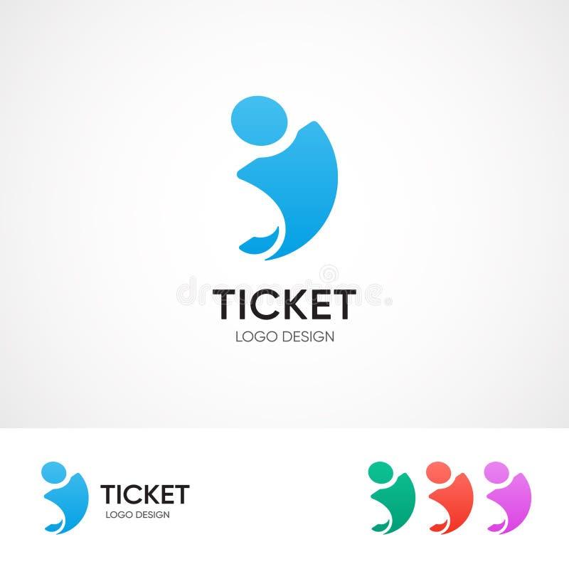 卖票中心商标概念-导航旅行社的象征模板 不同的颜色变异 向量例证