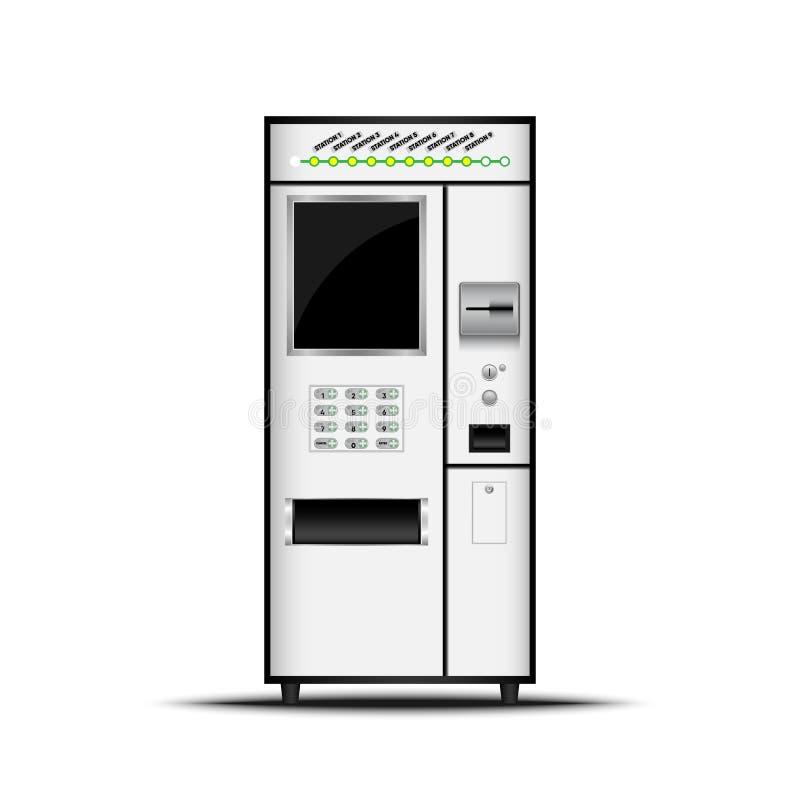 卖票机器,自已服务票机器,传染媒介, Illustratio 库存例证