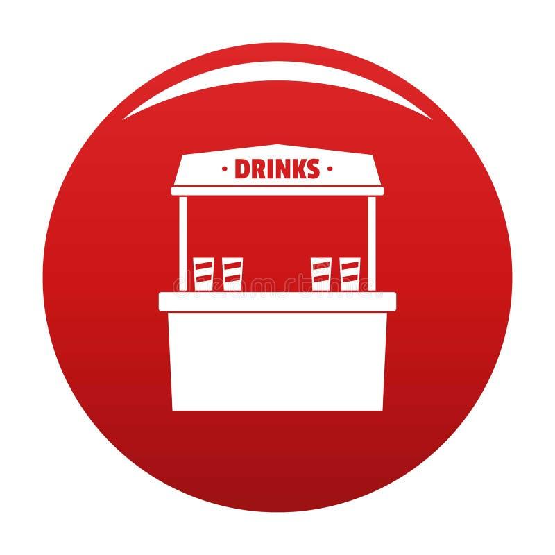 卖象传染媒介红色的饮料 向量例证