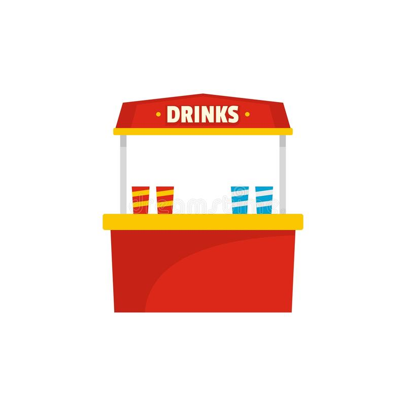 卖象,平的样式的饮料 库存例证