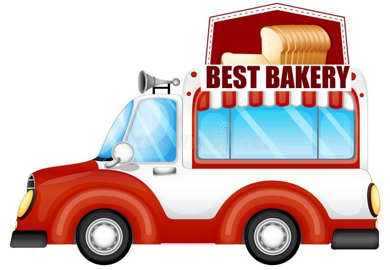卖面包的车 向量例证