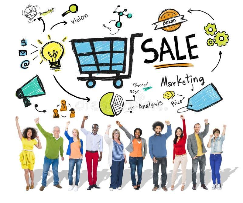 卖财务收支收入付款概念的销售 库存图片