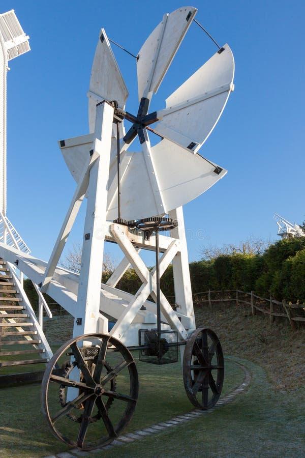 南下来, SUSSEX/UK - 1月3日:Jill风车Fantackle 免版税库存图片