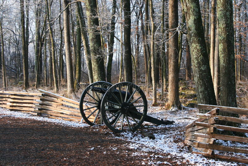 南北战争佳能 免版税图库摄影
