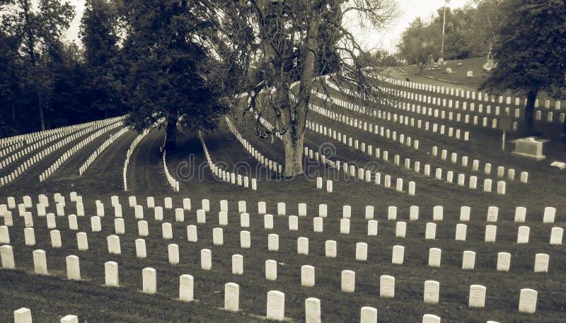 南北战争公墓路易斯维尔肯塔基 库存照片