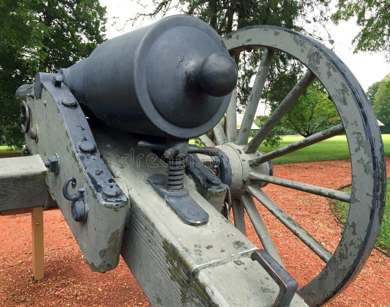 南北战争大炮后面细节 免版税库存照片