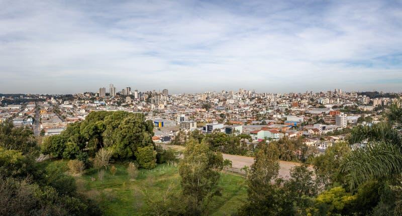 南卡希亚斯市-南卡希亚斯,南里奥格兰德州,巴西全景鸟瞰图  免版税库存照片