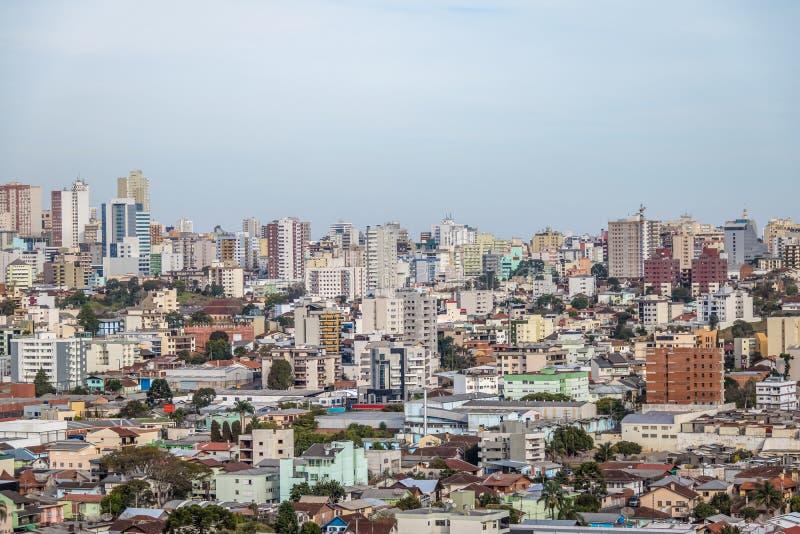 南卡希亚斯市-南卡希亚斯,南里奥格兰德州,巴西鸟瞰图  库存图片