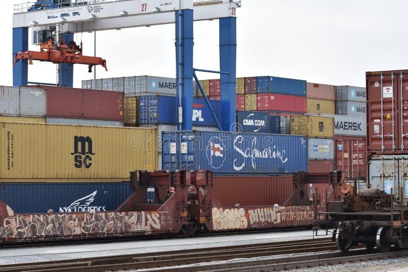 南卡罗来纳港务局内河港  免版税图库摄影