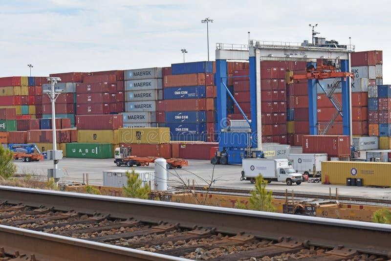 南卡罗来纳港务局内河港  免版税库存图片