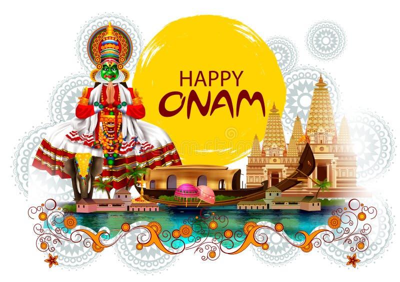 南印度节日背景的愉快的Onam假日 免版税库存照片