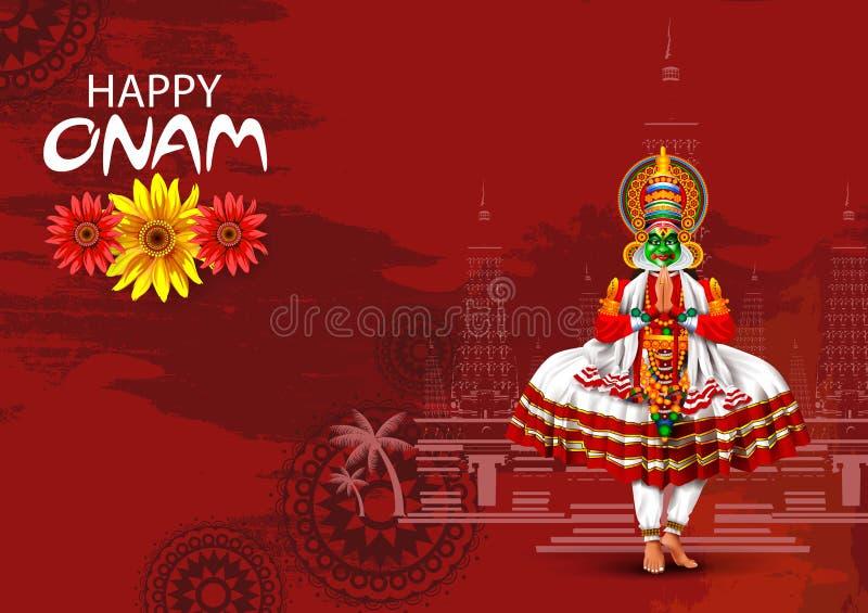 南印度节日背景的愉快的Onam假日 免版税库存图片