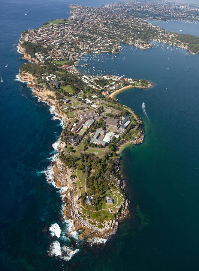 南坚硬的Watsons海湾悉尼港口NSW澳大利亚 库存照片