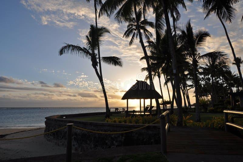 南太平洋日落 图库摄影