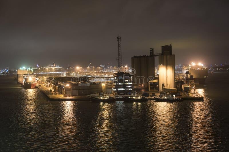 南安普敦船坞 库存图片