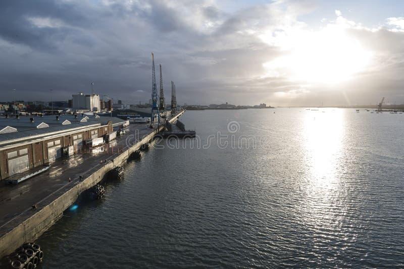 南安普敦靠码头英国 免版税库存照片
