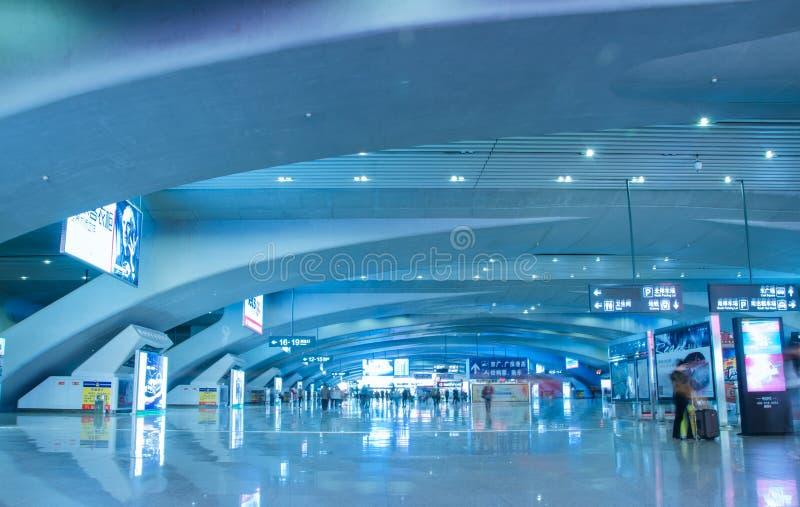 南广州火车站的大厅  库存照片