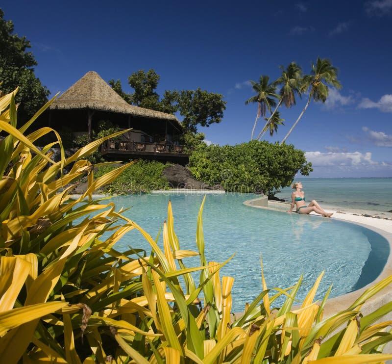南库克群岛豪华和平的手段 免版税库存照片
