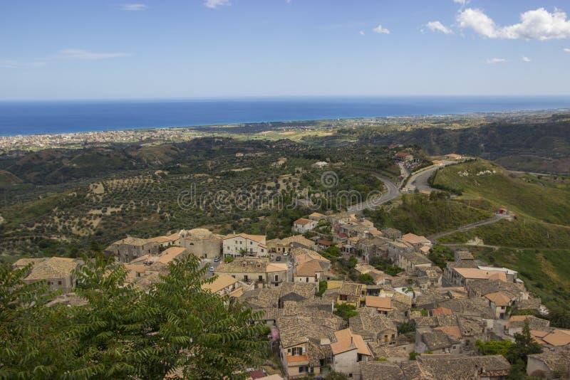 南意大利,卡拉布里亚,杰拉切的风景 免版税图库摄影
