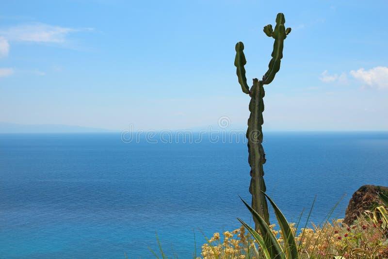 南意大利-海的海岸视图 免版税库存图片