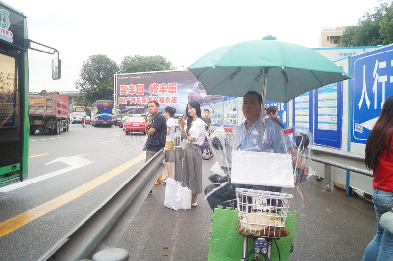 南投深圳变革项目和交通风景 图库摄影