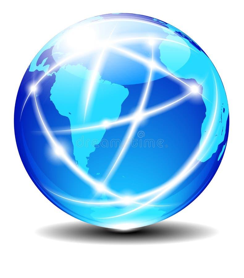 南拉美和非洲全球性通信行星数据 皇族释放例证
