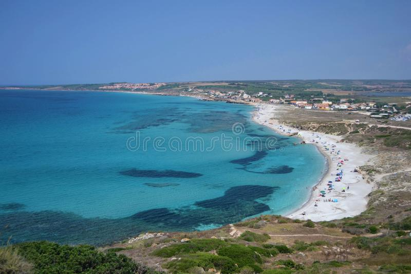 南撒丁岛在意大利 库存照片