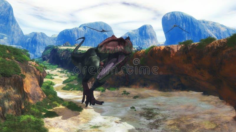 南方巨兽龙2 向量例证