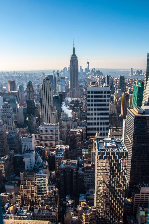 南曼哈顿的视图 免版税库存照片