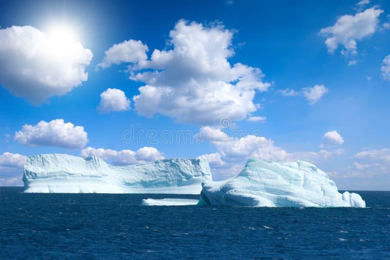 南极冰海岛 图库摄影