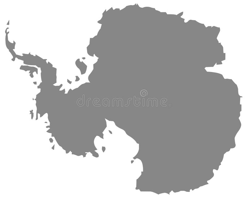 南极洲地图-地球的最南端的大陆 皇族释放例证