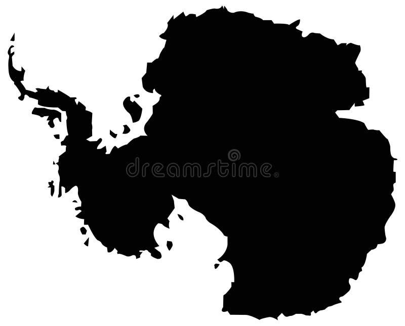 南极洲地图-地球的最南端的大陆 向量例证