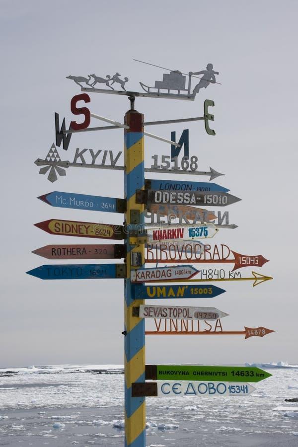 南极洲过帐符号 库存图片