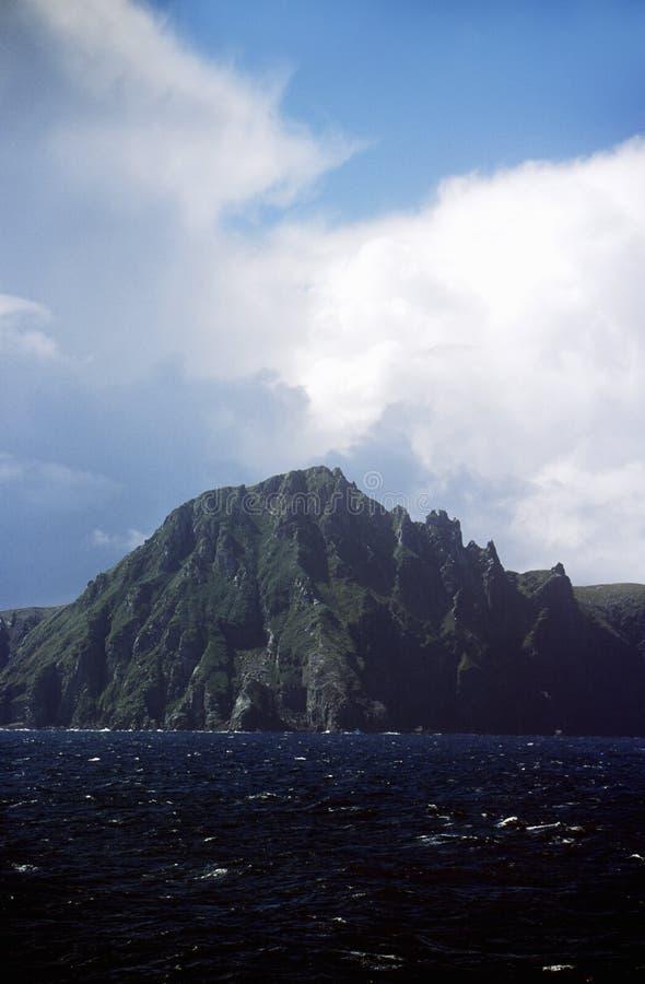 从南极洲的看法横跨合恩角和火地群岛德雷克段落  免版税库存照片