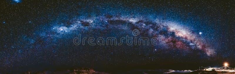 南极洲银河 Vernadsky驻地 库存图片