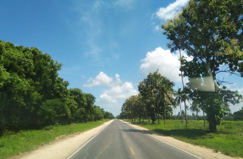 南海岸Ukunda肯尼亚晴朗的清楚的天空 免版税库存照片