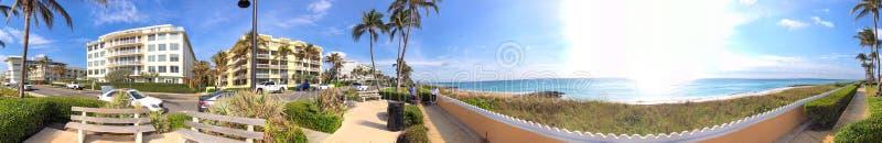 南海洋大道全景在棕榈滩,佛罗里达 库存照片