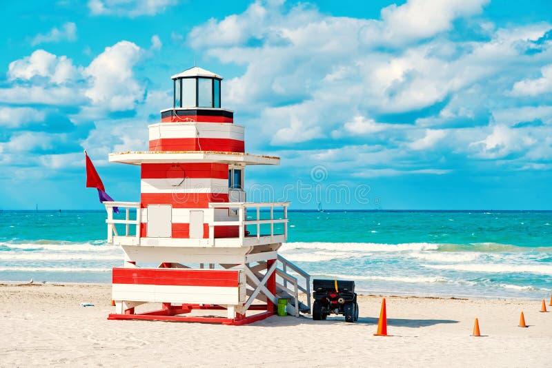 南海滩在迈阿密,佛罗里达 免版税库存图片