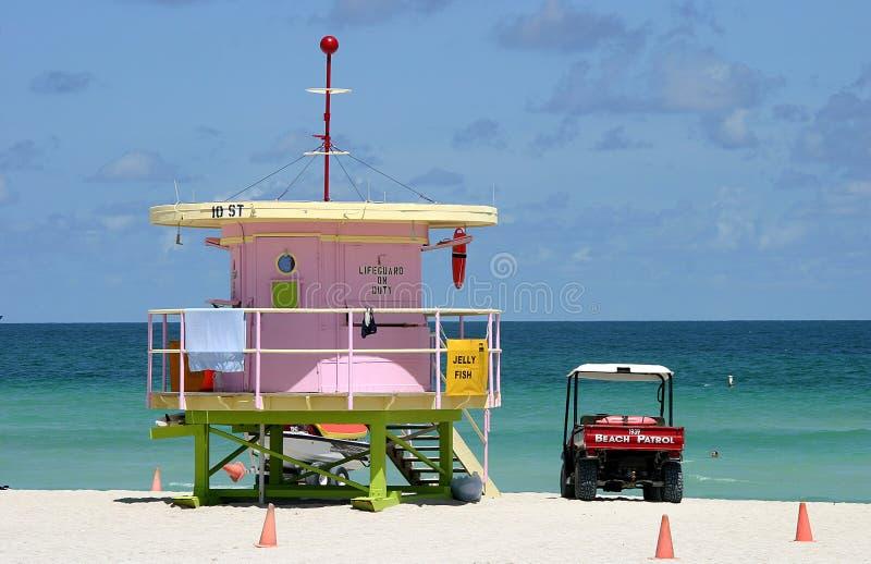 南海滩的巡逻 库存照片