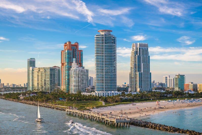 南海滩,迈阿密,佛罗里达,美国 库存照片