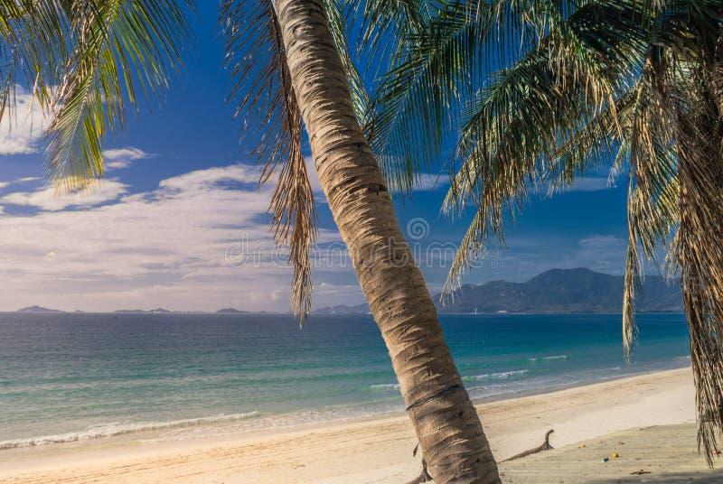 南海的美丽如画的岸 库存照片