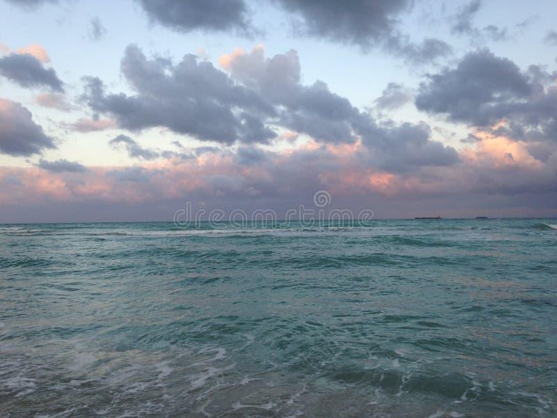 南海滩在迈阿密,佛罗里达 免版税图库摄影