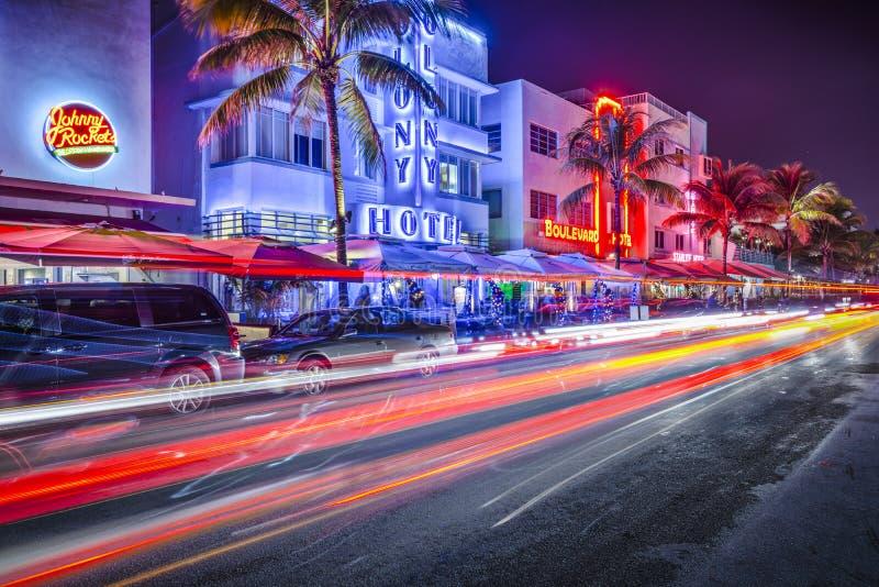 南海滩迈阿密 免版税库存图片